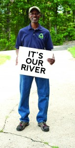 Dennis L. Chestnut, founding executive director of Groundwork Anacostia River DC, is a passionate advocate for education, nature conservation, and restoration of the Anacostia River. A mentor to young people in his Ward 7 northeast DC neighborhood and the region, Chestnut loves the outdoors and is a shining example of what one man of vision can inspire others to do. Photograph by Susana A. Raab, Anacostia Community Museum