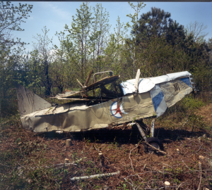 Airplane before recovery