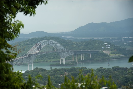 Bridge of the Americas from Cerro Ancon August 2014 Photo by Susana Raab