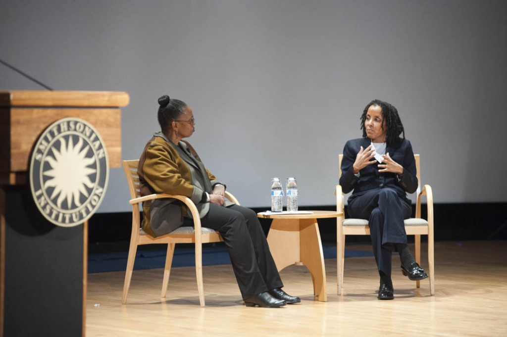 January 16, 2015 - Smithsonian Undersecretary Claudine Brown moderated a question and answer session with keynote speaker Kica Matos, Director of Immigrant Rigths and Racial Justice at the Center for Community Change at the 30th annual Martin Luther King Jr. Program of the Anacostia Community Museum. Susana Raab/Anacostia Community Museum/Smithsonian Institution