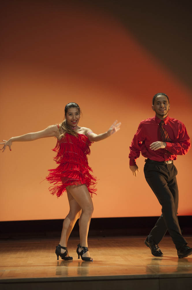 January 16, 2015 - Wendy Perez and Ramiro Forty, winners of the 2014 DC After-School Latin Program perform before the Anacostia Community Museum's annual Martin Luther King Jr. Program. Susana Raab/Anacostia Community Museum/Smithsonian Institution