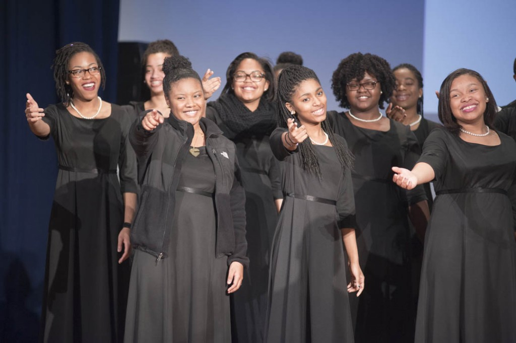 "January 16, 2015-The Washington Performing Arts' Children of the Gospel Choir sing ""I Know Where I've Been"" from the musical Hairspray at the Anacostia Community Museum 30th Annual Martin Luther King Jr. Program at the Rasmuson Theater at the National Museum of the American Indian. Susana Raab/Anacostia Community Museum/Smithsonian Institution"