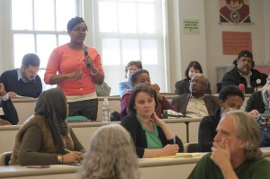 An attendee speaks during one of the sessions. Courtesy Susana Raab Anacostia Community Museum