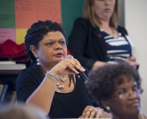 Leslie Fields of the Sierra Club listens to one of the day's sessions.  Susana Raab Anacostia Community Museum