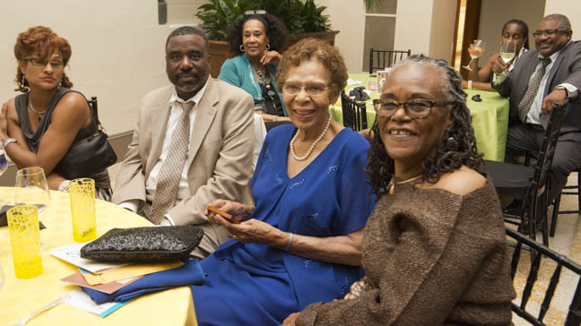 June 12, 2015 - Former Anacostia Community Museum employee Zora Felton with friends and family at the Anacostia Community Museum annual soiree held at the Smithsonian Castle on the Mall. Photo by Susana Raab/Anacostia Community Museum/Smithsonian Institution