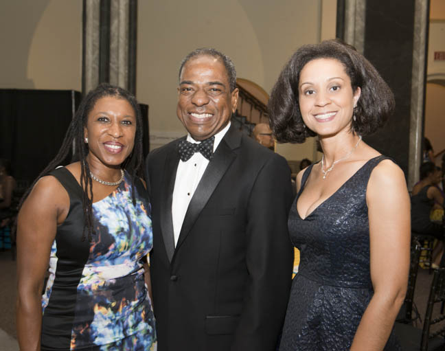 June 12, 2015 -ACM board member Tonya Kinlow, DC  Council member Vincent Orange and Dr. Marceé White at the Anacostia Community Museum annual soiree held at the Smithsonian Castle on the Mall. Photo by Susana Raab/Anacostia Community Museum/Smithsonian Institution