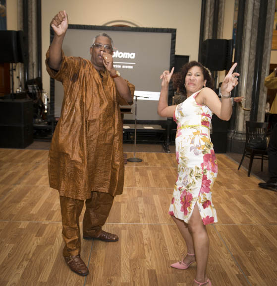June 12, 2015 - James D. Staton takes the dance floor with Charmaine Horvath during the  Anacostia Community Museum annual soiree held at the Smithsonian Castle on the Mall. Photo by Susana Raab/Anacostia Community Museum/Smithsonian Institution