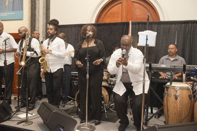 June 12, 2015 - The band Phase II boogies down at the Anacostia Community Museum annual soiree held at the Smithsonian Castle on the Mall. Photo by Susana Raab/Anacostia Community Museum/Smithsonian Institution