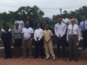 ACM's  Education Program Coordinator Tony Thomas and members of the first and second cohorts.