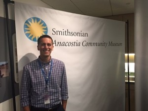 Sergio Gonzalez poses at the Anacostia Community Museum at the completion of his fellowship