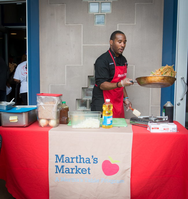 Chef Joel was on hand from Martha's Table to show how to prepare delicious affordable food.