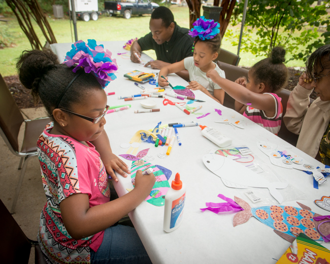 Plenty of arts and crafts kept the kids occupied.