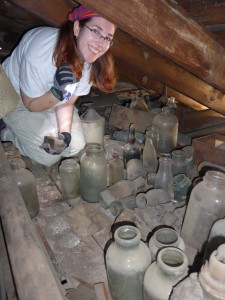 Your writer, getting her hands dirty!