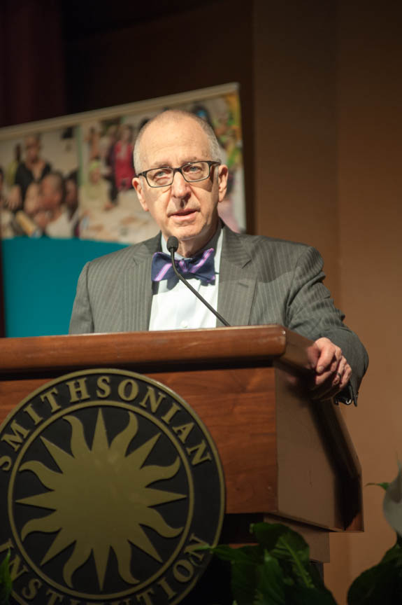 January 15, 2016 - Smithsonian Institution Secretary David Skorton makes remarks at the 2016 Martin Luther King Jr. Celebration hosted by the Anacostia Community Museum. Photo by Susana Raab/Anacostia Community Museum/Smithsonian Institution