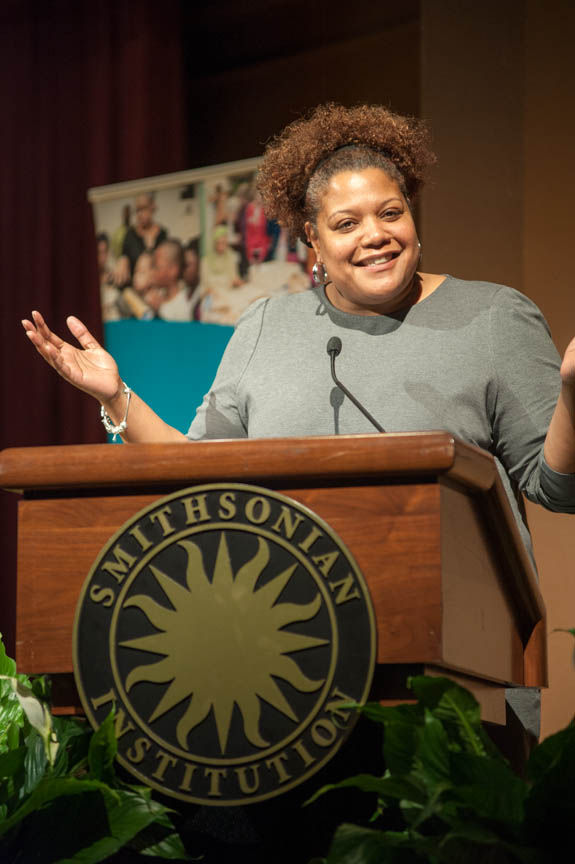 January 15, 2016 - Deputy DC Mayor for greater economic opportunity Courtney Snowden made remarks at the 2016 Martin Luther King Jr Celebration hosted by the Anacostia Community Museum. Photo by Susana Raab/Anacostia Community Museum/Smithsonian Institution