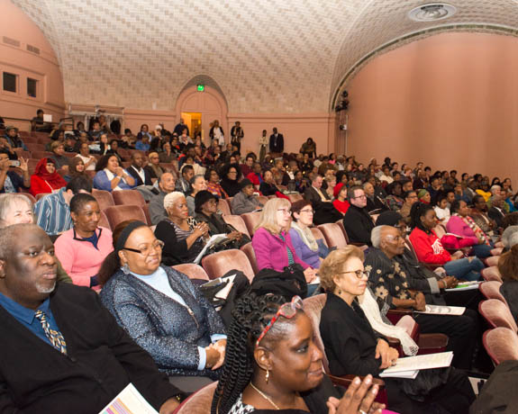 January 15, 2016 - Attendees gather for the 2016 Anacostia Community Museum 2016 Martin Luther King Jr. Anniversary Celebration. Photo by Susana Raab/Anacostia Community Museum/Smithsonian Institution