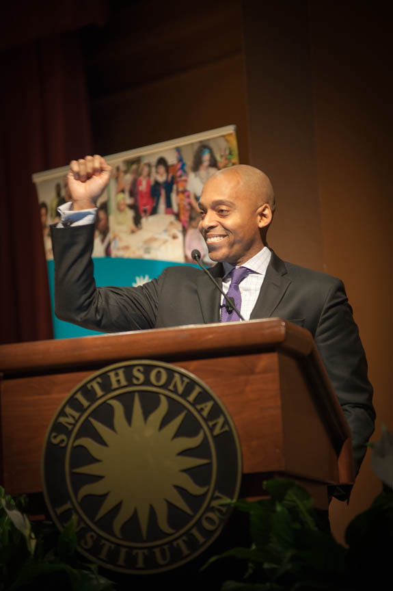 January 15, 2016 - Dr. Khalil Gibran Muhammad gave the keynote address for the Anacostia Community Museum 2016 Martin Luther King Jr Celebration event. Photo by Susana Raab/Anacostia Community Museum/Smithsonian Institution