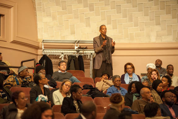 January 15, 2016 - Members of the audience ask questions during the 2016 Anacostia Community Museum Martin Luther King Jr Celebration event.Photo by Susana Raab/Anacostia Community Museum/Smithsonian Institution