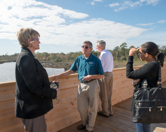 December 10, 2015 - The Pascagoula River Audubon Center in Moss Point, Mississippi. Here, Mark LaSalle at the center gives a tour of the wetlands around the center. Susana Raab/Anacostia Community Museum/Smithsonian Institution