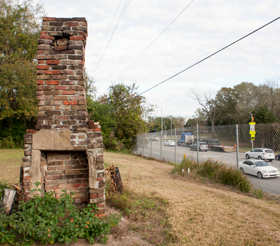 December 11, 2015 - The only remaining remnant of former slaves homes is a chimney in Africatown, Alabama. Photo by Susana Raab/Anacostia Community Museum/Smithsonian Institution