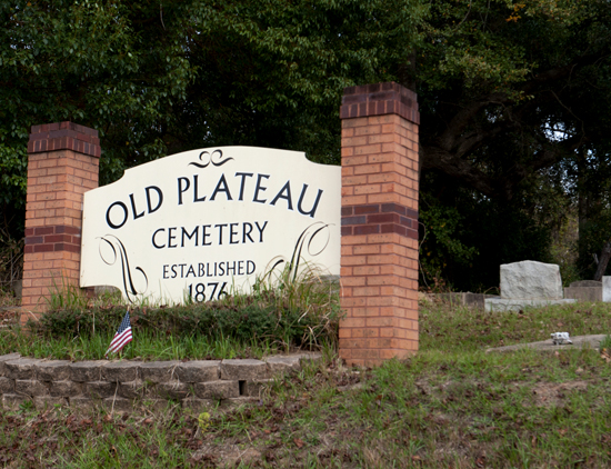 December 11, 2015 - The Old Plateau cemetery established in 1876 for Africatown residents. Photo by Susana Raab/Anacostia Community Museum/Smithsonian Institution