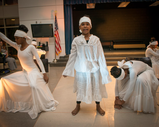 February 29, 2016 - The Savoy Players during their performance in a Black History Month event at Savoy Elementary in SE Washington, DC. Susana Raab/Anacostia Community Museum/Smithsonian Institution