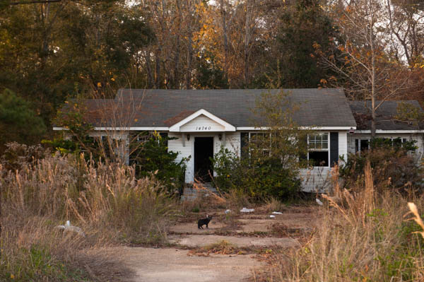 December 12, 2015 - Coden, Alabama - A home abandoned since Hurricane Katrina. Susana Raab/Anacostia Community Museum/Smithsonian Institution