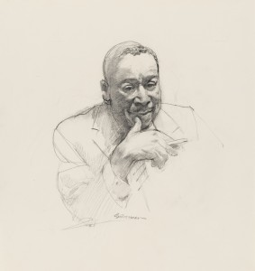 Kenneth Bancroft Clark by Burton Phillip Silverman. Charcoal on paper (1982) Image courtesy of National Portrait Gallery, Smithsonian Institution; gift of Burton Silverman