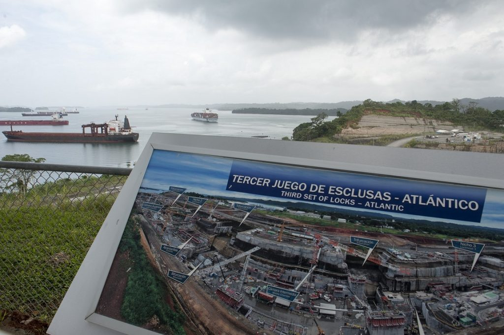 August 2014 view of the Panama Canal expansion near the Locks of Gatun. These photographs were made for the upcoming Bridging the Americas exhibit at the Anacostia Community Museum. Susana Raab/Anacostia Community Museum/Smithsonian Institution