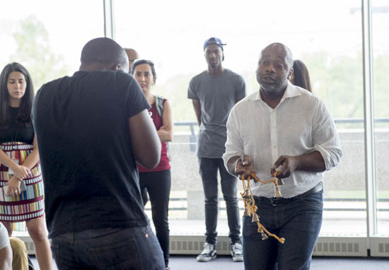 September 14, 2016 - Artist Theaster Gates and his associates the Black Monks of Mississippi performed at the Hirshhorn Museum in advance of Gates' presentation at the museum later that night in honor of the opening of the new Museum of African American History and Culture. Susana Raab/Anacostia Community Museum/Smithsonian Institution