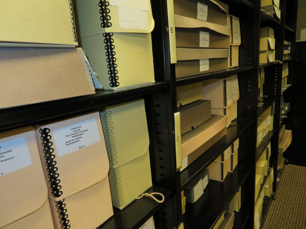 Shelving in the Anacostia Community Museum's Archives