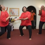 Pastor Lois Void and the Dancing with a Purpose Ministry liturgical dancers